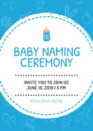 baby naming ceremony invitation template naming ceremony invitation