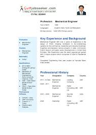 Resume Of Mechanical Engineer Sample For Curriculum Vitae Examples