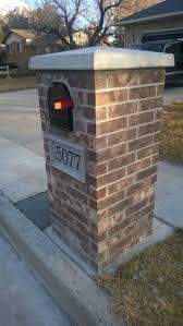 brick mailbox flag. Stone And Brick Mailbox Ideas \u2014 Home Design Styling #MailboxLandscape Flag B