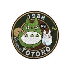 <b>Custom Embroidery Patch</b> for clothinf My Neighbor Totoro <b>Iron</b> On ...