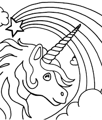 Want to draw a super cute unicorn head fast and easy? Unicorn Head With Rainbow Coloring Page Free Printable Coloring Pages For Kids