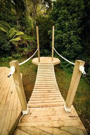 diy rope bridge interior cozy backyard small masters plans photography how to build a old rustic