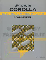 2009 toyota matrix wiring diagram manual original 2009 toyota corolla wiring diagram manual original