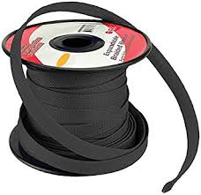 com black ft braided expandable flex sleeve wiring black 3 4 100ft braided expandable flex sleeve wiring harness loom wire cover