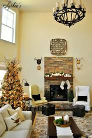 Rustic Christmas Decorations Decorations Rustic Natural Stone Fireplace Decoration Feature