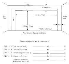 average garage door sizes typical garage door height standard garage door sizes 2 car width two