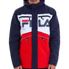 fila jacket. fila linden jacket peacoat white