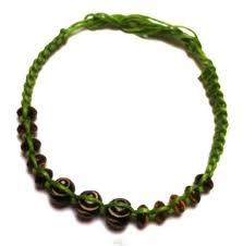 bracelets green brown friendship bracelet bracelet wooden beads cotton uni jewelry waxed