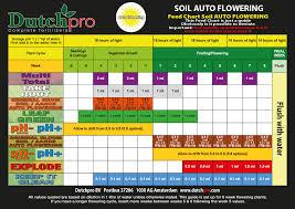 Dutchpro Soil Autoflower Grow Chart Rutland