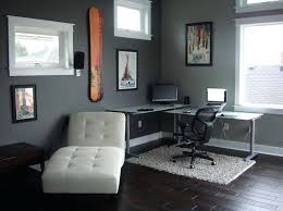 grey walls black furniture astonishing modern style white lounge office decorating ideas for men with minimalist grey walls