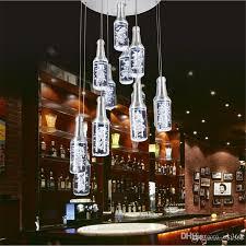 Großhandel Neue Led Acryl Pendelleuchten Hotel Theke Ktv Pendelleuchte Restaurant Kronleuchter Flasche Droplight Flasche Bubble Pendelleuchte