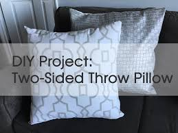 diy how to make a throw pillow with zipper