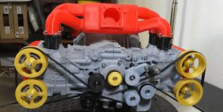 make your own paper v8 engine using these plans gineersnow mini subaru engine