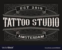 Vintage Logo For Tattoo Studio