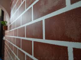 Small Picture R U D E C H I C DIY Decor Faux Painted Brick Wall
