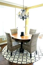 how to measure a round rug area under dining room table made rugs dubai