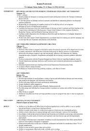 Radiation Therapist Resume Art Therapist Resume Samples Velvet Jobs