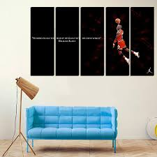 Large Living Room Paintings 5 Pcs For Michael Jordan Large Seaview With Frame Canvas Print