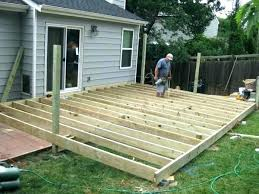 build ground level deck building a timber deck at ground level round designs build ground level deck