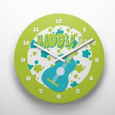flower power hippie theme kids girls personalized wall clock by pickleberry kids