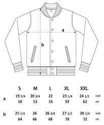 Varsity Jacket Size Chart Chaplin Grey Striped Varsity Jacket Organic