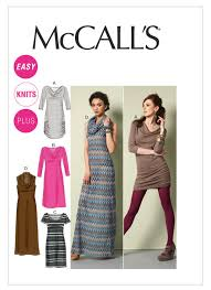 Mccalls Pattern Stunning M48 Misses'Women's Pullover Dresses Sewing Pattern McCall's