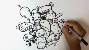 Lucu 13 sketsa gaun menggunakan makanan fashion fimela com. 35 Gambar Doodle Art Simple Keren Lucu Dan Cara Membuatnya