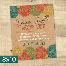 raffle sign diaper raffle ticket and sign baby shower sign baby shower game