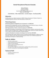 Front Desk Receptionist Resume Medical Front Office Resume Sample Charming Design Receptionist Cv 62
