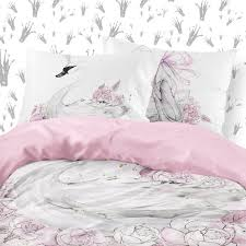 girl ballerina bedding set swan white