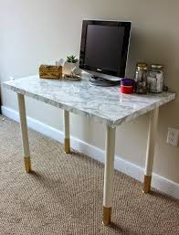 marble top desk diy