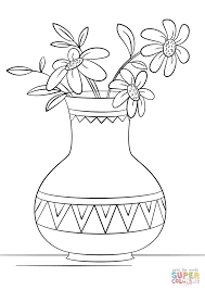 Small Picture Vase of Flowers coloring page Free Printable Coloring Pages