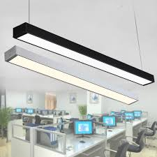 office pendant light. Modern Office Pendant Lamp LED Strip Light Chandelier Lighting Long Aluminum N