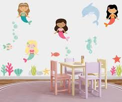 magical mermaids fabric wall stickers