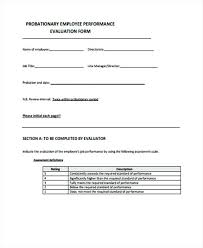 Free Performance Evaluation Forms – Heureux Template
