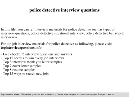 Police Interview Questions And Answers Police Detective Interview Questions Pptx Powerpoint