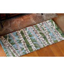 birch tree hearth rug wool hearth rugs plow hearth mission style dining furniture