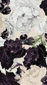 Black White Flower iPhone Wallpaper ...