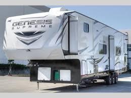 the genesis supreme toy hauler fifth wheel