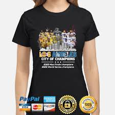 Get authentic los angeles lakers gear here. Official Los Angeles Lakers And Los Angeles Dodgers Los Angeles City Of Champions 2020 Nba Finals Champions 2020 World Series Champions Shirt Hoodie Sweater Long Sleeve And Tank Top