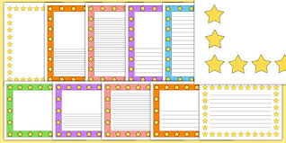 Lined Pages For Writing Awesome Mixed Colours Star Page Borders Star Page Borders Borders