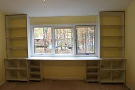 Wall Units, Appealing Bookcase With Built In Desk Diy Built In Desk And  Bookshelves White
