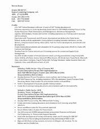 Fresh Sap Programmer Sample Resume Resume Sample