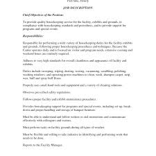 Housekeeping Resume Magnificent Housekeeping Job Description For Resume From Hotel Housekeeping