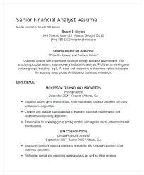 Senior Financial Analyst Resume Sample 21 Inspirational Financial Analyst Resume Sample Pour Eux Com