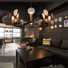 pendant lighting bar. $771.37- Wrought Iron Glass Pendant Lights Industrial Vintage Personality Art Deco Suspension Lamp Bar Cafe Lighting
