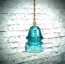 old insulator pendant light diy glass kit
