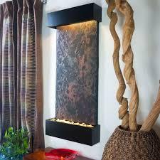 water wonders large nojoqui falls lightweight slate wall fountain in black onyx trim wwlvs bl the home depot
