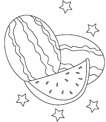 simple coloring pages for children free watermelon heart colouri