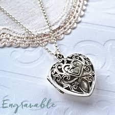 silver vintage heart locket necklace by martha jackson sterling silver notonthehighstreet com